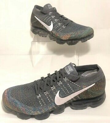 0acfd2caf6d47 Nike Air Vapormax Flyknit Multicolor Grey Silver Fashion 849558 019 Mens  Size 11