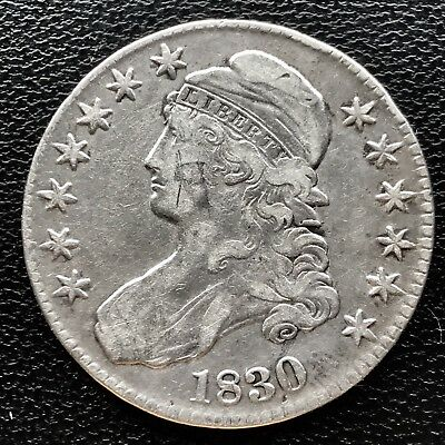 1830 Capped Bust Half Dollar 50c XF Details High Grade #6689