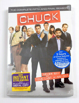 Brand New - Chuck: The Complete Fifth Season (DVD, 2012, 3-Disc Set) Sealed