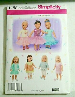 Simplicity 18 American Girl Doll Clothes Pattern 1485 New Tutu