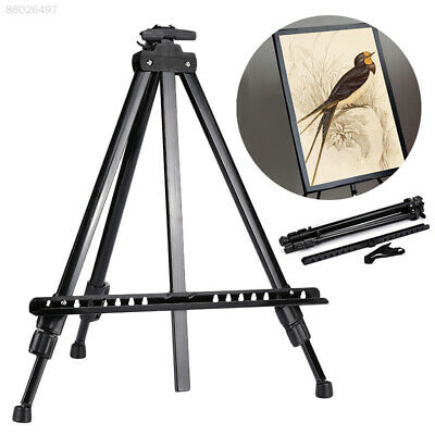 F6BB Black Painting Tripod Stand Painting Easel Tripod Displaying Bracket Field