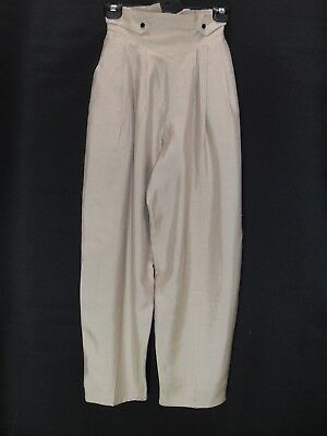 1980's Vintage High Waisted Pants with Tapered Legs & Elastic at the Sides.