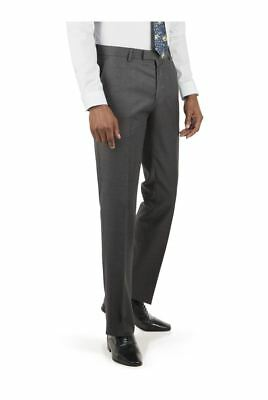 Racing Green Charcoal Jaspe Tailored Fit Suit Trousers 36S TD085 BB 20