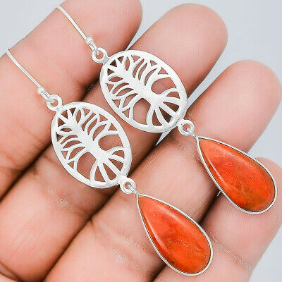 Tree Of Life Fine Earrings Plain Silver 925 Sterling Silver Earrings Jewelry Ae32764