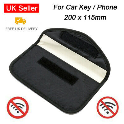 Genuine Car Key Keyless Entry Fob Signal Blocker Faraday Bag Large Mobile Phone
