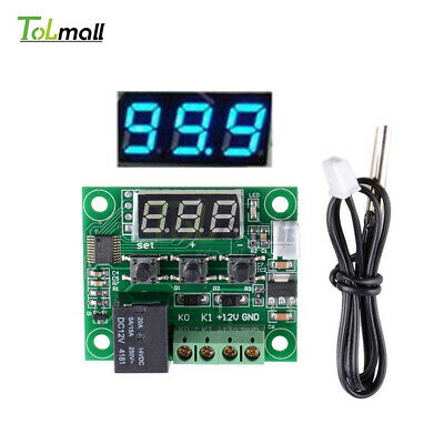 W1209 Digital Thermostat Temperature Control Switch Sensor Blue DC 12V -50-110°C