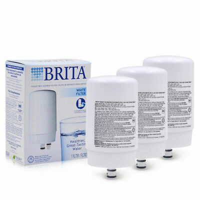 3PCs Brita FR-200 White On Tap Faucet Replacement Filter, FF-100 OPFF-100, White