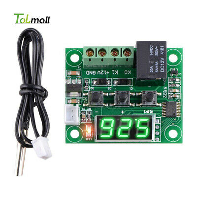 DC12V W1209 Digital Thermostat Temperature Control Switch Sensor Green -50-110°C