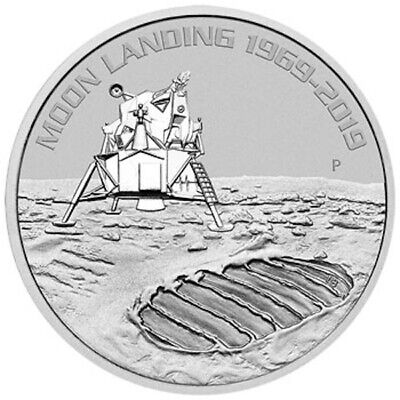 2019 50th Anni. of the Moon Landing 1oz Silver Bullion Coin - with Capsule