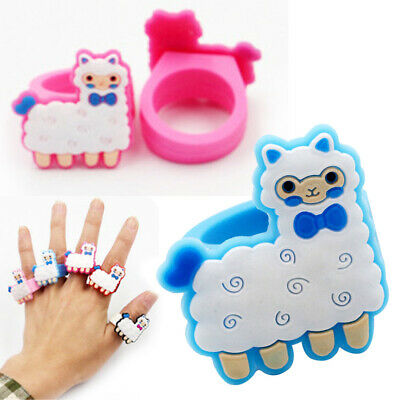 1/6/12Pcs Cartoon Finger Rings Silicone Ring Jewellery Party Kids Gift Toy