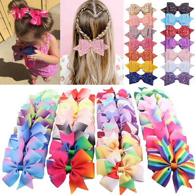 5/40pcs Toddler Baby Hair Bows For Girls Kids Hair Bands Alligator Hair Clips