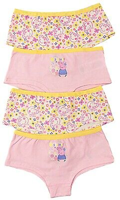 Girls Peppa Pig Four Pack Shorty Style Briefs 4-5 and 5-6 Years
