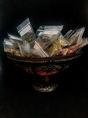 24 WITCH HERBS & 10 Candle Set Herbs Roots Wicca Pagan