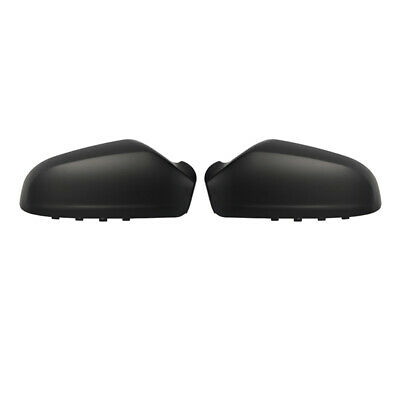 Pair For Vauxhall Astra H MK5 Wing Mirror Cover Cap Casing 2004-2009 Matte Black