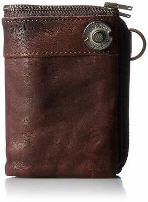 Device DKW 17058 BR Vintage Double Fold Wallet Brown from Japan*
