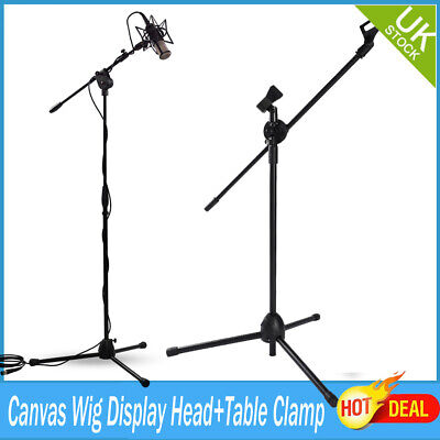 2xAdjustable Microphone Stand Boom Arm Bulk Package Studio Tripod Mic Clip Black