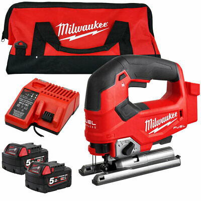 Milwaukee M18FJS-0X 18V Brushless Jigsaw With 2 x 5.0Ah Batteries Charger & Bag