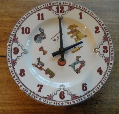SPODE EDWARDIAN CHILDHOOD COLLECTION  Wall Clock Plate - ENGLAND