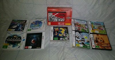 Nintendo 3DS XL Super Smash Bros. Limited Edition Console Brand New + 9 Games
