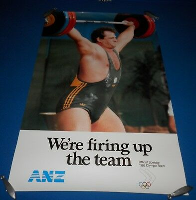 1988 Seoul Olympic Games Promotional Poster - Dean Lukin Weightlifting