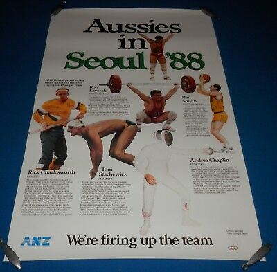 1988 Seoul Olympic Games Team Promotional Poster