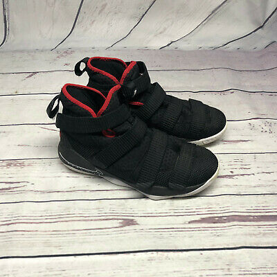 a0c5de01a99 Nike LeBron Soldier Basketball Sports Shoes Black Red 918369-002 Youth Boys  6