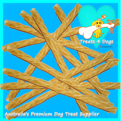 BUFFALO RAWHIDE STICKS 100mm x 5mm 50 or 100 TREATS 4 DOGS (Safe Not Bleached)