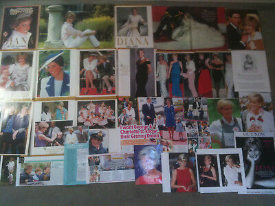 DIANA, PRINCESS OF WALES - Over 20 clippings