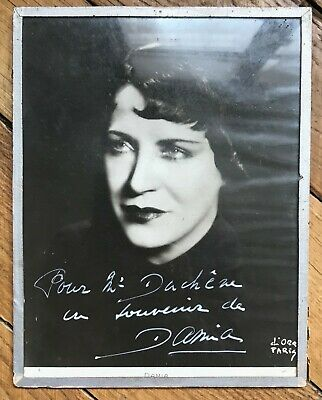 Damia / Portrait Photographique Signé / Music-Hall / Edith Piaf / Frehel