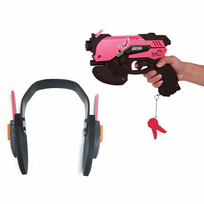 Novelty & Special Use Costumes & Accessories D.va Gun And Headset For Cosplay Pvc Pink D Va Gun Dva Headset Dva Earphone For Exhibition