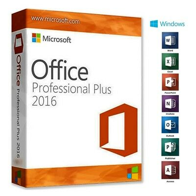 Microsoft Office 2016 Professional Plus 32/64 Bit  Software ESD - Activation Key