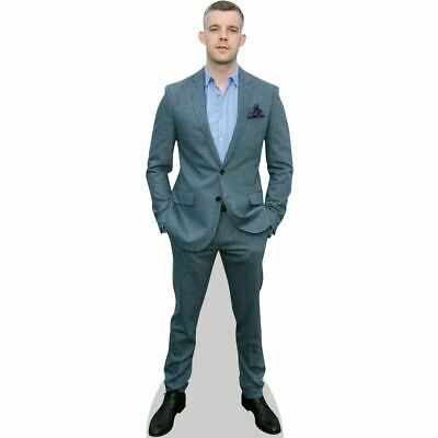 Cory Monteith Cardboard Cutout Standee. Grey Suit mini size