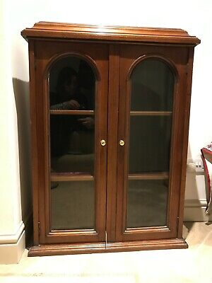 Antique Mahogany Wall Cabinet / Cupboard - Very Good Condition