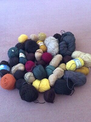 Job Lot 1000g  of Mixed Odd Balls Selction of Browns, Rust, Gold, earth Colours