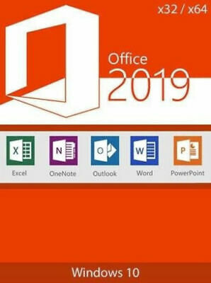 Microsoft Office 2019 Pro Plus Professional Genuine Lifetime License for Windows