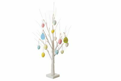 Pre lit White 70 cm Easter Twig Tree 24 LED'S Includes Decorations