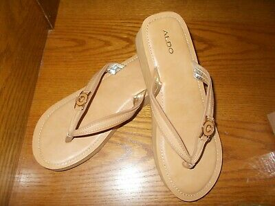 243863f42ccb Women s Size 9 Aldo s Slip-on Brown Thong Sandals