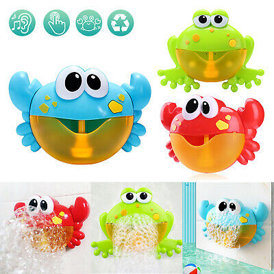 Baby Bubble Machine Frog Crab Blower Maker Automatic Kids Bath Music Shower Toys