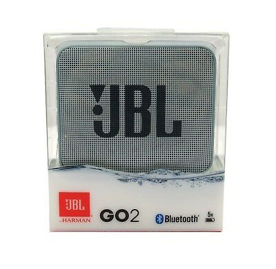 JBL GO 2 Portable Bluetooth Waterproof Speaker (Cyan)  *GO2CYAN
