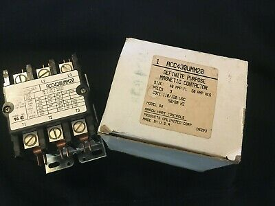 Arrow Hart ACC430UMM20 Definite Purpose 3 phase Contactor New