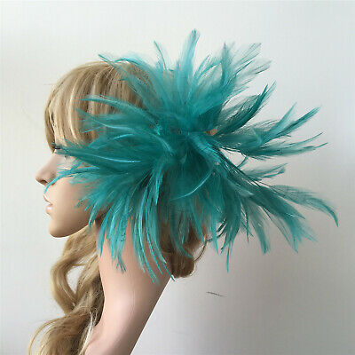 Feather Twisted Mount Hackle Feather Flower Millinery Hat Crafts Fascinator Trim