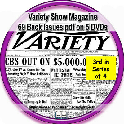 Variety Shows Weekly Magazine Arts 3rd disk series 69 pdfs Back issues 5 dvds