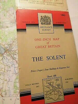 Solent, Isle Of Wight-Portsmouth-Southampton: Series 7 Ordnance Map 1957-1960