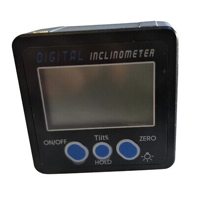 Mini Angle Finder Magnetic Protractor Digital Inclinometer with Blue Button