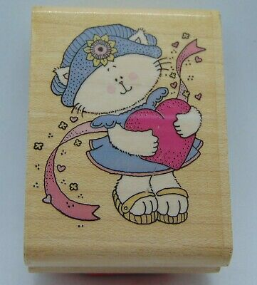 ALL DRESSED IN WHITE Rubber Stamp 93450 Inkadinkado Wedding Love Bride Shower