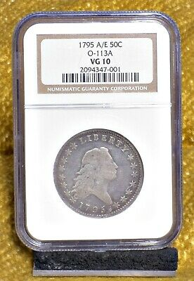 1795 Flowing Hair Half Dollar - A/E in States, O-113A - NGC VG10 (#20690)