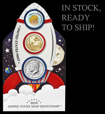 2019 US Mint Rocketship : Mintage of 50K - STILL SEALED IN US MINT PLASTIC WRAP