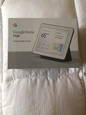 Google Home Hub with Google Assistant (GA00515-US) - Charcoal NEW SEALED!!!