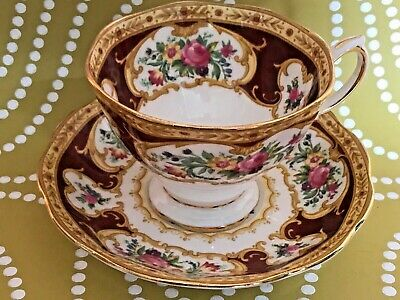 Royal Albert 'Lady Hamilton' Cup and Saucer -  Bone China
