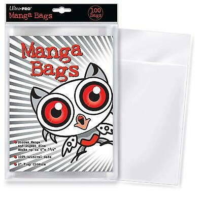 """Ultra PRO Manga Size 6 X 7-5/8"""" Comic Bags (100 Count Pack), Small, Clear"""